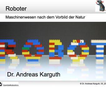 Roboter bei der Kinderuni in Weimar am 14.3.2018